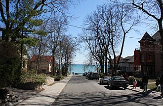 The Beaches - View of the Toronto waterfront from The Beaches