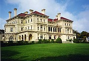 """""""The Breakers"""", a gilded-age mansion in Newport, Rhode Island."""