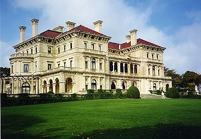 The Breakers, in Newport, Rhode Island, is one of the most famous 19th century mansions in the United States.