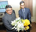 The CEO of Google, Mr. Sundar Pichai meeting the Union Minister for Communications & Information Technology, Shri Ravi Shankar Prasad, in New Delhi on December 16, 2015.jpg