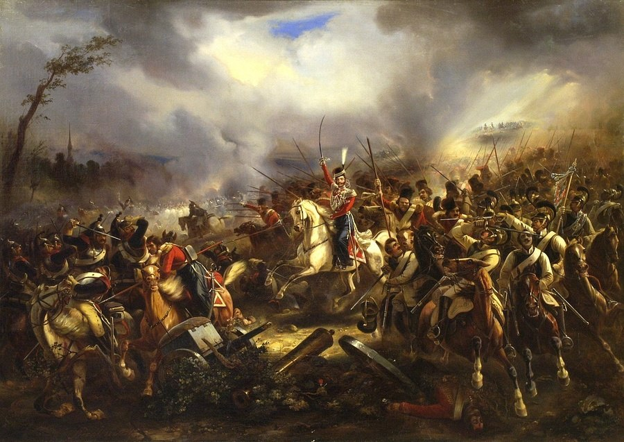 The Charge of the Life Guards Cossacks by C Rechlin 1845