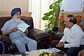 The Chief Minister of Punjab, Shri Parkash Singh Badal meeting the Union Minister for Health and Family Welfare, Dr. Harsh Vardhan, in New Delhi on June 19, 2014.jpg