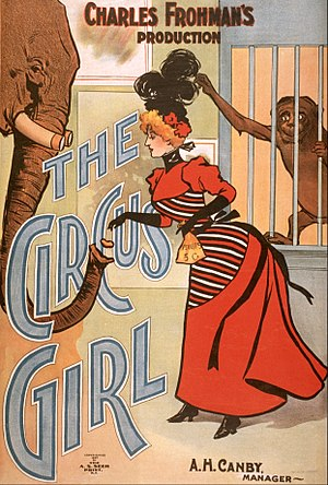 The Circus Girl - Poster for the New York production
