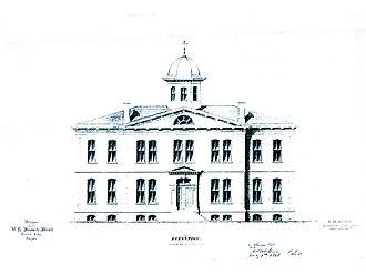 The Dalles Mint - Original design for the building