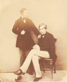 The Duke of Oporto and The King of Portugal, Osborne (8 Sep 1854) - Dr Ernst Becker (1826-88).png