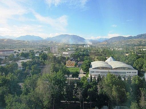 The Dushanbe Landscape From the Dushanbe Hyatt Hotel (4746709788)