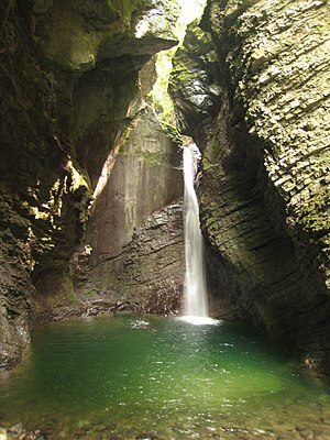Slovene Littoral - Image: The Kozjak Stream Waterfalls, Kobarid, Slovenia