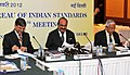 The Minister of State (Independent Charge) for Consumer Affairs, Food and Public Distribution, Professor K.V. Thomas presides over the board meeting of Bureau of Indian Standards, in New Delhi on January 17, 2012.jpg