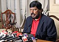 The Minister of State for Social Justice & Empowerment, Shri Ramdas Athawale addressing a press conference on contemporary issues in Mumbai, at Mumbai on September 22, 2016.jpg