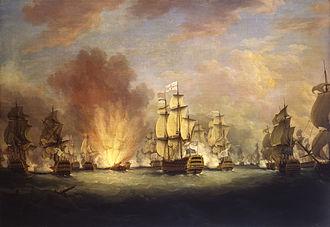 Battle of Cape St. Vincent (1780) - Image: The Moonlight Battle off Cape St Vincent, 16 January 1780