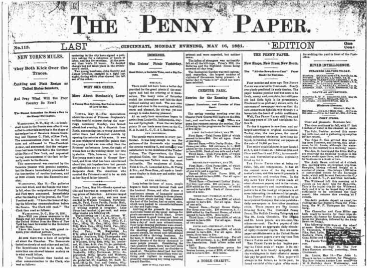 The Penny Paper, May 16, 1881