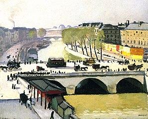Le Pont Saint-Michel, 1908