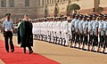 The President of Islamic Republic of Afghanistan, Shri Hamid Karzai, inspecting the Guard of the Honour, at the ceremonial reception, at Rashtrapati Bhavan, in New Delhi on November 12, 2012.jpg