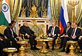 The Prime Minister, Shri Narendra Modi and the President of Russian Federation, Mr. Vladimir Putin begin the 16th Annual Summit with a restricted meeting, in Kremlin, Russia on December 24, 2015.jpg