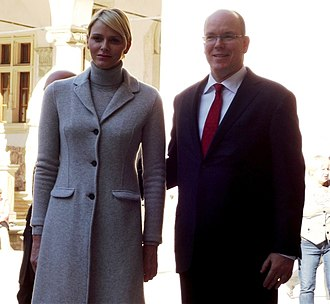 Albert II, Prince of Monaco - Prince Albert and Princess Charlene during a 2012 visit to Kraków, Poland.