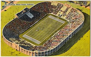 Notre Dame Stadium - Notre Dame stadium between circa 1930 and circa 1945