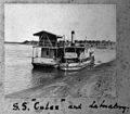 The Sudan; steamship Culex and floating laboratory on the Ni Wellcome L0031487.jpg