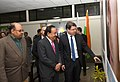 The Union Minister for Science & Technology and Earth Sciences, Dr. Harsh Vardhan and the Minister of Science, Technology and Space, Israel Mr. Ofir Akunis visited the National Council of Science Museums, in New Delhi.jpg