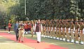 The Vice President, Shri M. Venkaiah Naidu inspecting the Guard of Honour, at the Raj Bhawan, in Jaipur on January 06, 2018.jpg