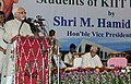The Vice President, Shri Mohd. Hamid Ansari interacting with the students of Kalinga Institute of Industrial Technology in Bhubaneswar, Orissa on October 22, 2010.jpg