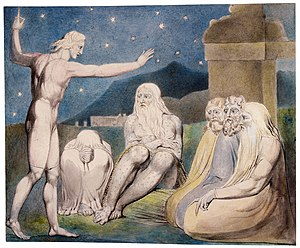 Elihu (Job) - The Wrath of Elihu (1805) by William Blake; one of his series of illustrations of the Book of Job