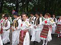 The ZORA Folkdancegroup of Mohács in Hungarian traditional ethnic costume, 2008 Wisła 01.JPG