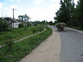 The cart with hay at the road in Girejšy - panoramio.jpg