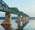The iron bridge on stone pillars. Ural. Trans-Siberian Railroad.jpg