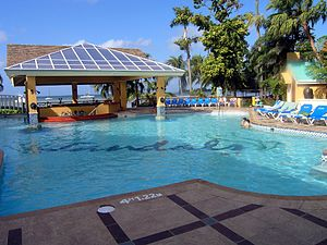 Sandals Resorts - The main pool at Sandals, Negril.