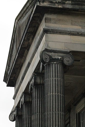 North Leith Parish Church - The portico at North Leith Parish Church