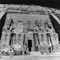 The reconstruction of the Abu Simbel great and Small Temples was completed in sepember 1968. The Great Temple on its new site.jpg