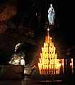 The unknown soldier prays in the grotto of lourdes 01.jpg