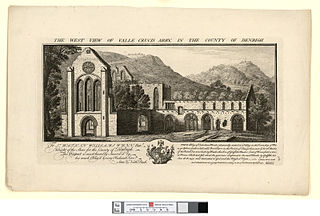 The west view of Valle Crucis Abby, in the county of Denbigh