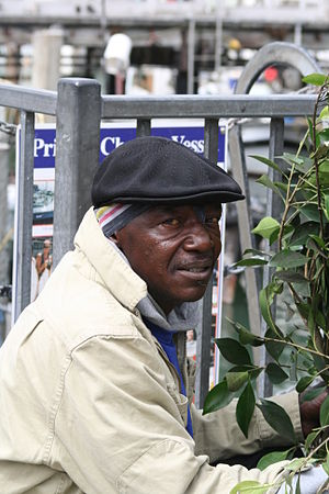 World Famous Bushman - David Johnson aka The Bushman in August 2007