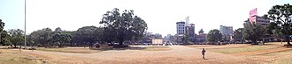 Thekkinkadu Maidan - A view of Municipal Office Road in Thrissur city from Vadakkunnathan Temple