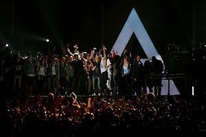 "Kings and Queens (Thirty Seconds to Mars song) - Thirty Seconds to Mars performing ""Kings and Queens"" during the Into the Wild Tour in July 2011"