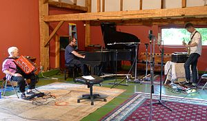 Thollem McDonas - Thollem McDonas and Nels Cline recording with Pauline Oliveros recording Thollem and Cline's third album of the Thollem/Cline Trio series. Art Farm Studio in Accord, NY, August 2015