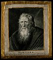 Thomas Parr, said to have lived 152 years. Drypoint by G. Po Wellcome V0007248.jpg