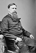 Maryland Governor Thomas Swann with a long goatee. Such beards were common around the time of the Civil War.