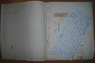 The Natural History of Ireland - Envelope (folder) with letter extracts and notes on the goosander
