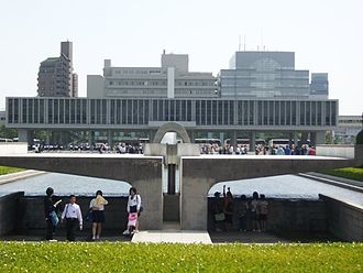 The Hiroshima Peace Memorial Museum was visited by the school on May 14, 2007 Thornton Donovan at the Hiroshima Memorial.jpg