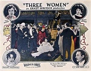 Three Women (1924 film) - Image: Three Women lobby card