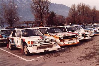 1986 World Rally Championship - Peugeot 205 T16 E2, Audi Quattro S1 and Lancia Delta S4 in Monte Carlo