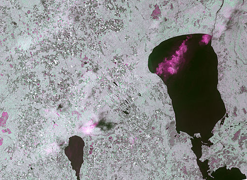 Thunderstorms over Estonia on a Copernicus Sentinel-1 synthetic aperture radar image.jpg