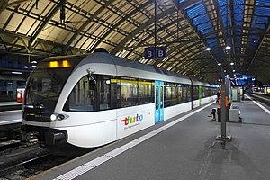 St. Gallen S-Bahn - Image: Thurbo RA Be 526 801 6 Bahnhof St. Gallen, 2014