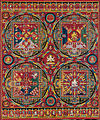 Tibetan, Four Mandalas of the Vajravali Series, c. 1429–56, Central Tibet, Tsang (Ngor Monastery), Sakya order, Thangka.jpg