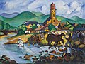 Tibor Boromisza - Fair at Baia Mare 72x95 oil on canvas 1914.jpg