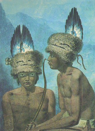 Indigenous peoples of California - Balthazar, Inhabitant of Northern California, painting by Mikhail Tikhanov.