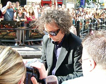 Tim Burton at premiere of Charlie and the Choc...