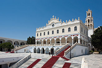 Tinos - Panagia Evangelistria, landmark of the island